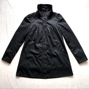 H&M Jackets & Coats - H&M black puff shoulder A-line coat